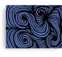 Stepaniak Abstract Expression Blue Black Canvas Print