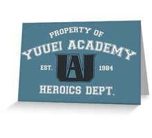 Yuuei Academy Heroics Dept. (light version) Greeting Card
