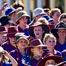 Young marchers on Anzac Day by Alexander Meysztowicz-Howen