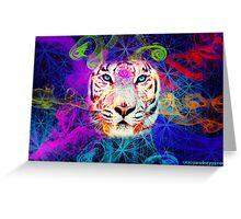 Psychadelic Tiger Greeting Card