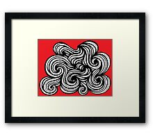 Gilkerson Abstract Expression Red White Black Framed Print