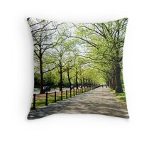 Tree Lined Avenue Throw Pillow