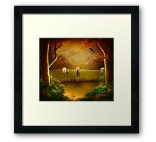 Hunting Wolf Framed Print