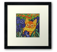 Vincent's Cat Framed Print