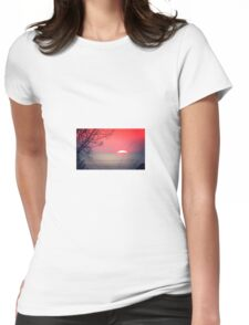 Sunset Over Lake Michigan Womens Fitted T-Shirt