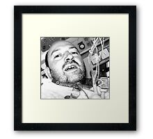rewiring the air supply in flight (self-portrait) Framed Print
