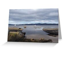 Low Tide At Woodbridge Greeting Card