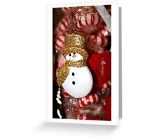 Snowman and Mints  Greeting Card