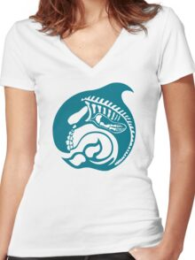 skeleorca Women's Fitted V-Neck T-Shirt