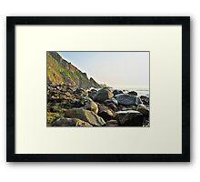 Rocky Coastline - Alderney Framed Print
