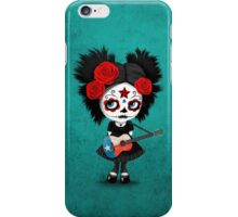 Sugar Skull Girl Playing Texas Flag Guitar iPhone Case/Skin