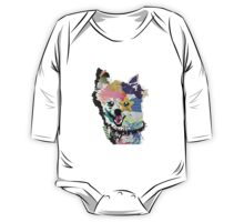 Pomeranian Mixed Media Collage One Piece - Long Sleeve