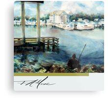 Gone Fishing. FA Moore Signature design, in Cloud White Metal Print