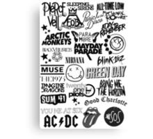 Band Logo Collage Canvas Print