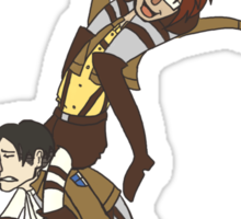 Levi, Hanji, and Erwin Tower - Attack On Titan Sticker