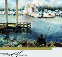 Gone Fishing. FA Moore signature scarf in Cloud White by F.A. Moore