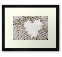 Hands: Love Framed Print