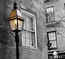 Beacon Hill street lamp. by Ian Poley