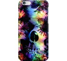 SKULL SURROUNDED BY FLOWERS iPhone Case/Skin