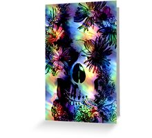 SKULL SURROUNDED BY FLOWERS Greeting Card