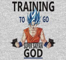 Training to go Super Saiyan God by trainingshirts