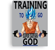 Training to go Super Saiyan God Canvas Print