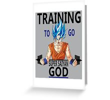 Training to go Super Saiyan God Greeting Card
