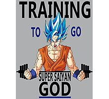 Training to go Super Saiyan God Photographic Print