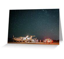RFDS Evac Under a Starry Southern Sky - Tjuntjuntjara, Great Victoria Desert, WA - Take 2 Greeting Card