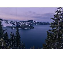 Crater Lake, Crater Lake National Park, Klamath County, Oregon, USA Photographic Print