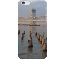 NY Bridge at sunset iPhone Case/Skin