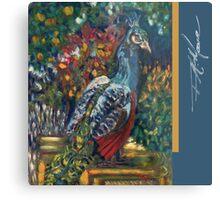 Peacock Garden. FA Moore Signature design, in Marine Blue Metal Print