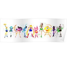 Watercolor Senshi Poster