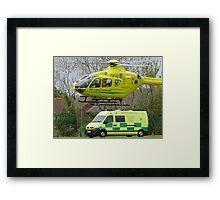 somerset air ambulance Framed Print