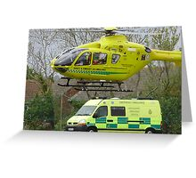 somerset air ambulance Greeting Card