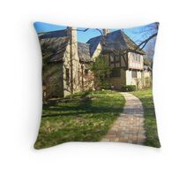 Mossy Mansion Throw Pillow