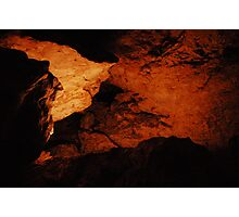 Illuminating Rock Depth Photographic Print