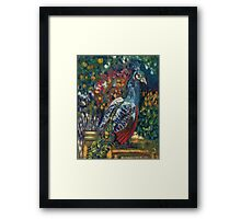 The Peacock Garden Framed Print