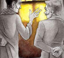 "Life is Infinitely Stranger"" - Holmes and Watson - 221B version #  Sticker"
