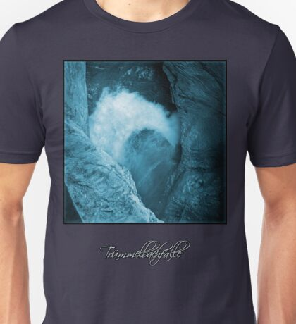 Trümmelbachfälle: cyan 3 (T-Shirt) T-Shirt