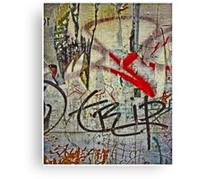 Red Ribbon Message Canvas Print