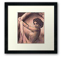 ELIZABETH TAYLOR PORTRAIT IN INK Framed Print