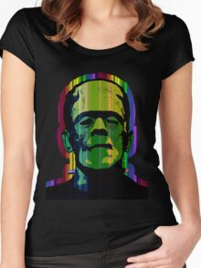 FRANKIE IN TECHNICOLOR Women's Fitted Scoop T-Shirt