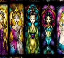 Princess On Glass Sticker