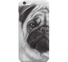 Cute Pug Dog Drawing iPhone Case/Skin