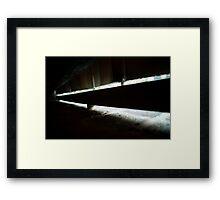 Shafts of light. Framed Print