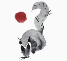 watercolor squirrel. Watercolor hand drawn brush vector  Kids Clothes