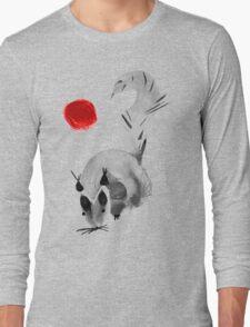 watercolor squirrel. Watercolor hand drawn brush vector  Long Sleeve T-Shirt