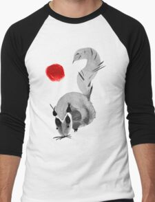 watercolor squirrel. Watercolor hand drawn brush vector  Men's Baseball ¾ T-Shirt