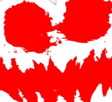 Haunted House Logo Red Sticker